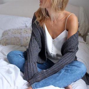 H&M Thin Layering Cami Top Dainty Straps 6 Medium